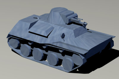 free t-40 light amphibious tank 3d model
