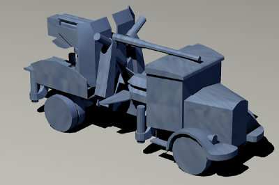 free autocannone lancia 3d model