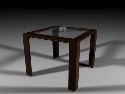 3ds max mahogany table glass candle