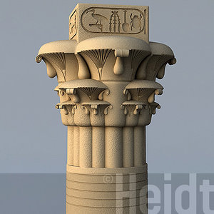 3d model egyptian pillar