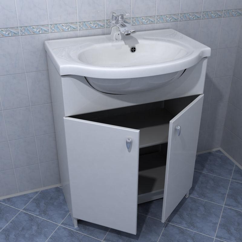 faucet sink cabinet 3d model