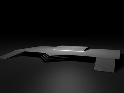 stage ramp 3d model
