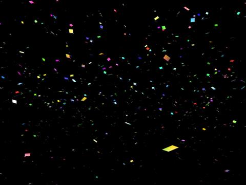 confetti celebration party 3d model