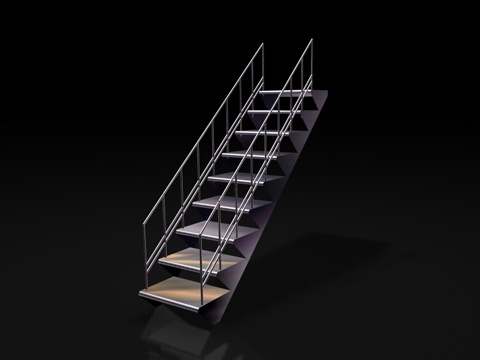3ds max metal stairs