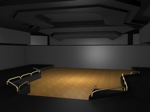 ballroom interior 3d model