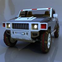 3d h3t hummer model