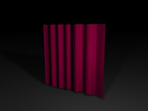 window curtain 3d model