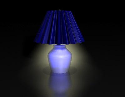 blue lamp lighting 3d c4d