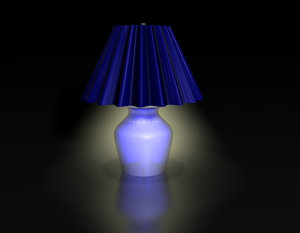 3ds max blue lamp lighting