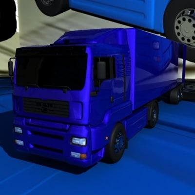 3d model man tga xl truck