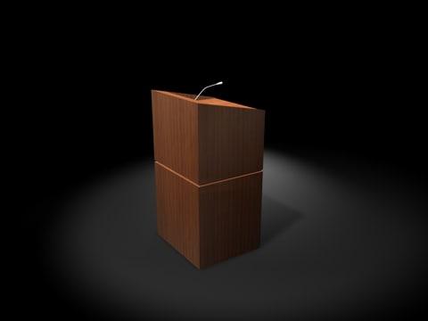 wood podium 3d model