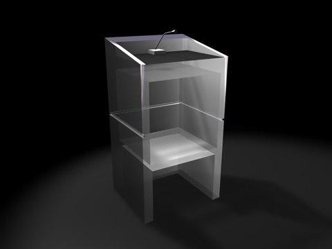 plexi glass podium 3d model
