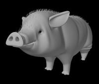 3d model pig