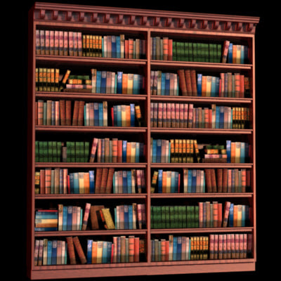 bookcases furniture 3d model