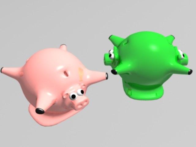 pig bank 3d max