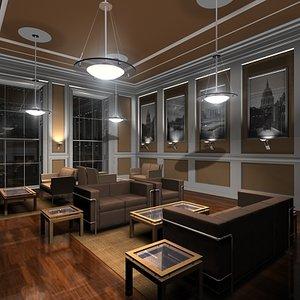 lounge interior 3d model