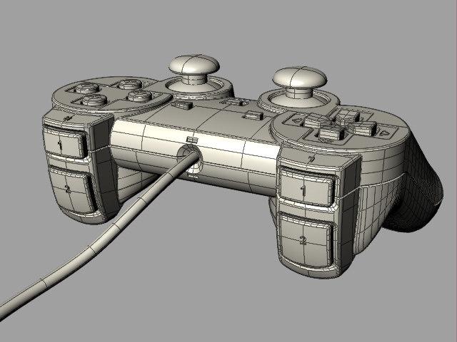 ps2 gamepad 3d model