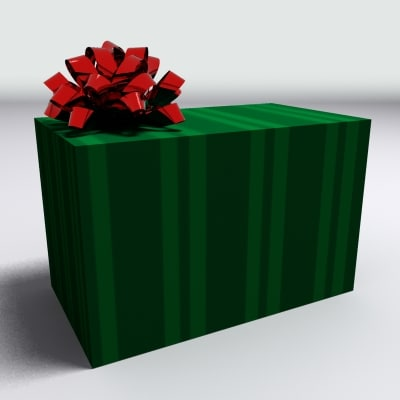 gift box present 3d model