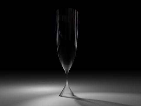 3d c4d champagne glass
