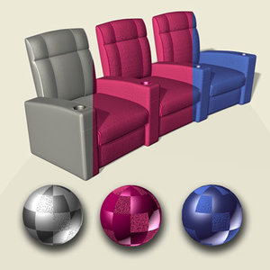 home theater seats 3d model