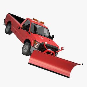 truck snow snowplough 3d max
