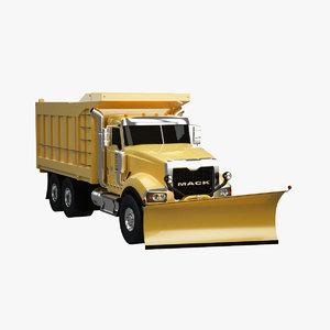 snow plow truck 3d model
