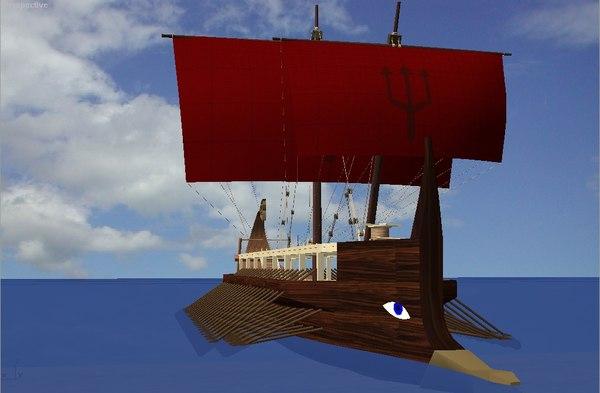 sailboat warship max free