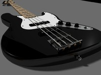 fender jazz bass guitar 3d ma