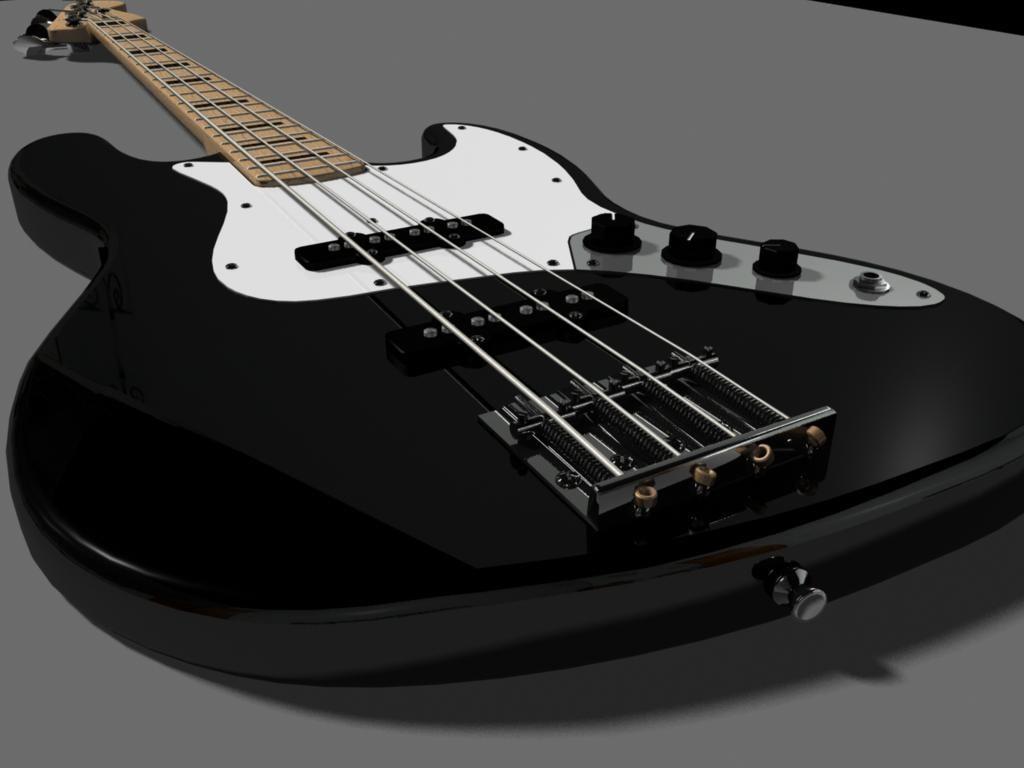 fender jazz bass guitar 3d ma