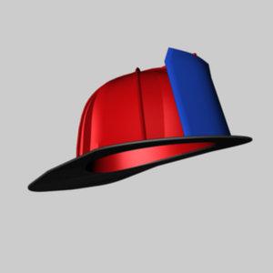 c4d fireman helmet