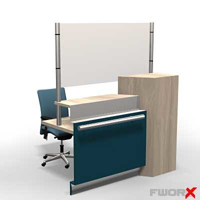 counter desk 3d model