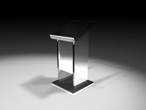 3d glass lectern
