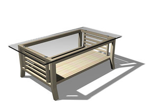 3d c4d coffee table glass