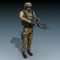 gun m16 mcw 3d model