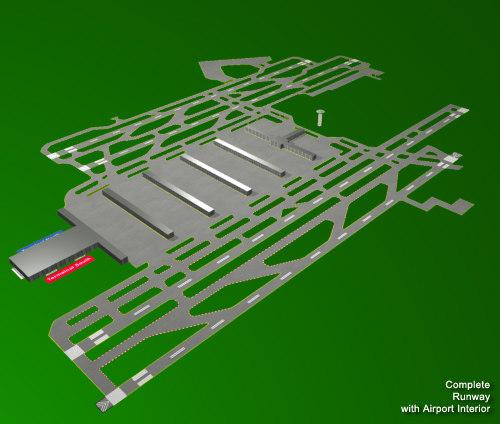 3d model atlanta hartsfield airport