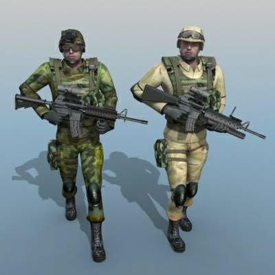 soldier human 3d max