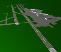 airport seattle 3d model