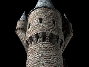 3ds max castle tower