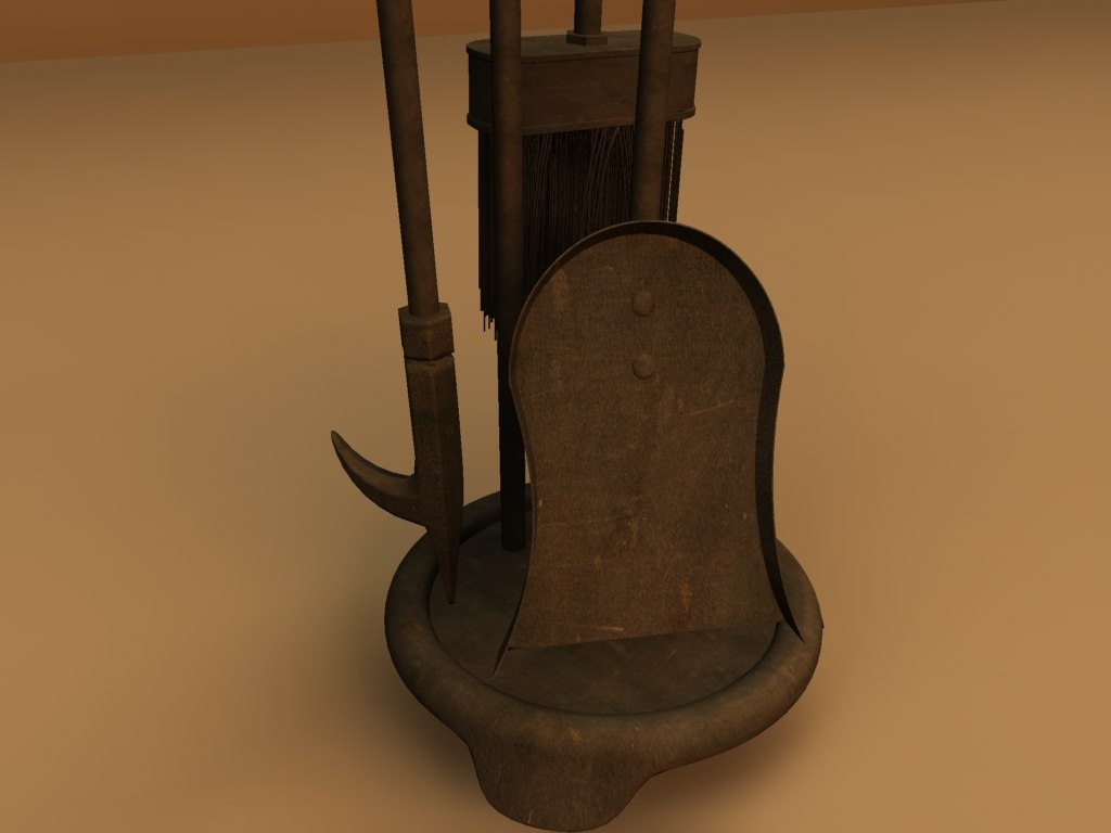 fireplace tools 3d max