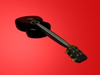 acoustic guitar 3d ma