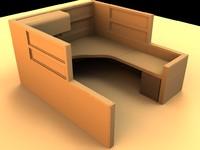 office cubicle 3d model