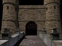 entrance castle bridge 3d model