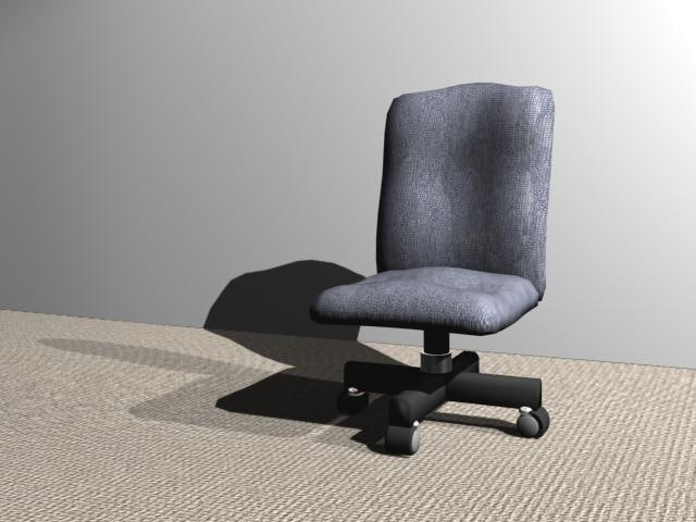 3d model roller chair