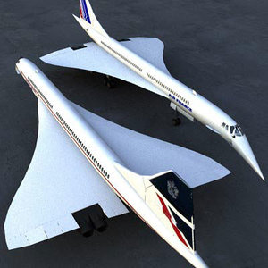 french britisch airlines 3d model