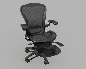 herman miller aeron chair 3d model
