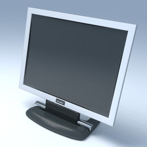 flat panel monitor 3d model
