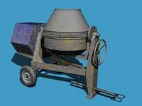 maya concrete mixer