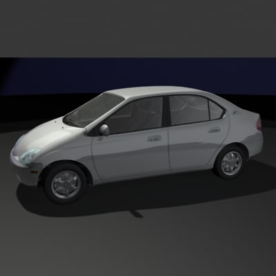 toyota prius hybrid 3d model