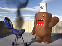 domo-kun cute monster lwo free