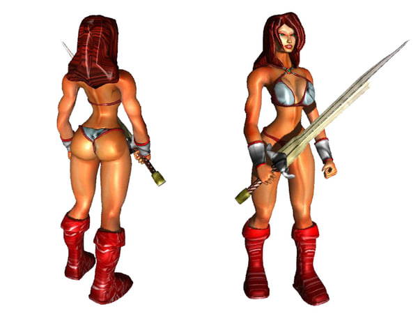 amazon warrior 3d model